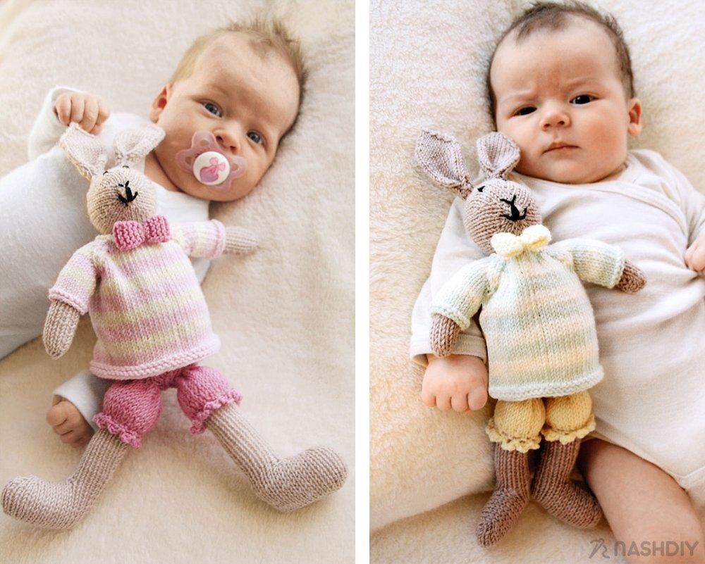 заяц и зайчиха вязаные игрушки