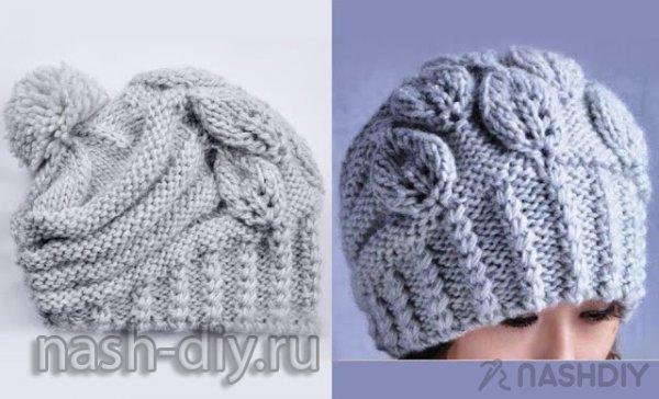 вязание шапки спицами самое интересное в блогах