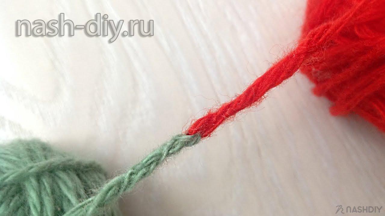 Соединяем пряжу при вязании