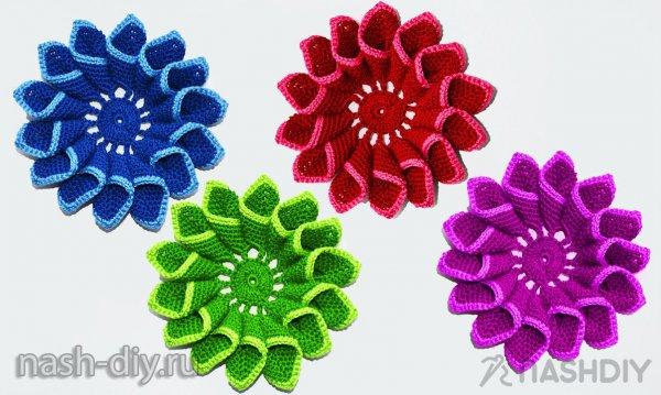 вязаный цветок крючком самое интересное в блогах